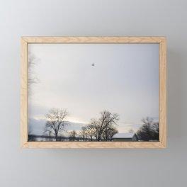 jet plane Framed Mini Art Print