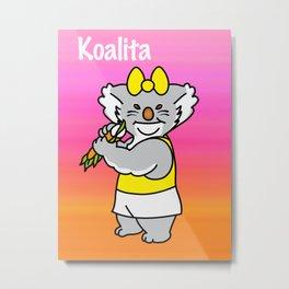 Koalita leaves sandwich Metal Print