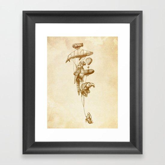 The Helium Menagerie (sepia) Framed Art Print