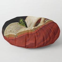 Gentle Reader Cropped Art Floor Pillow