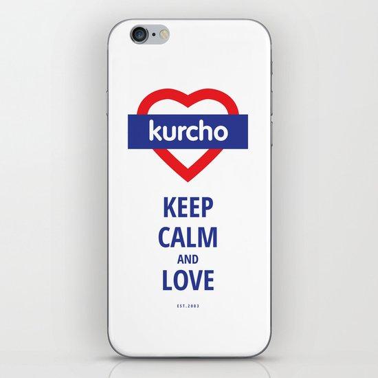Kurcho - Keep Calm and Love iPhone Skin