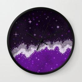 Ace Pride Flag Galaxy Wall Clock