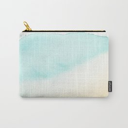 Sea And Beach Watercolor Shade - Water And Sand Carry-All Pouch
