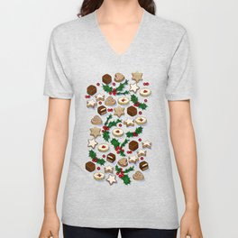 Christmas Treats and Cookies Unisex V-Neck