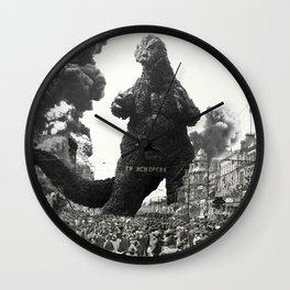 New Orleans Godzilla Attack 1908 Wall Clock