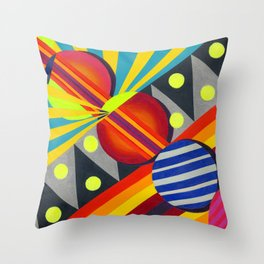Cicles & Stripes Throw Pillow
