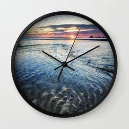 Ripples at Sunset Wall Clock