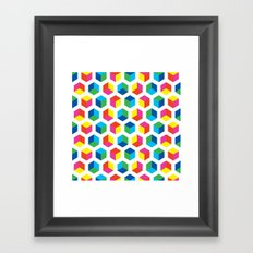 Cube pattern Framed Art Print