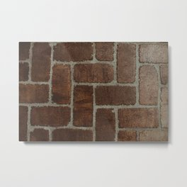 Brick Pattern in Spain Metal Print