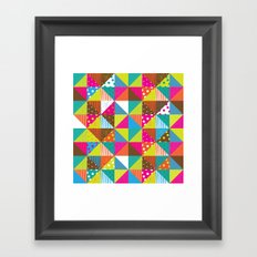 Crazy Squares Framed Art Print