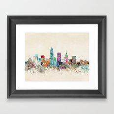 cleveland ohio Framed Art Print