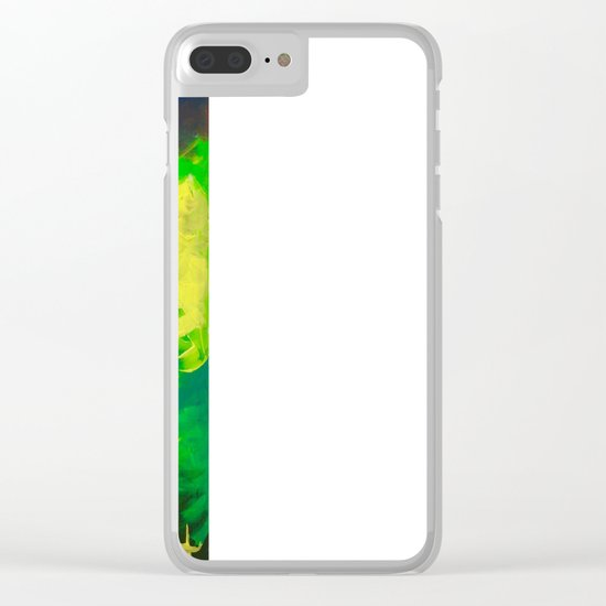 Peacock. Mimosa Inspired Primary Colors. Peacock. Clear iPhone Case