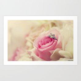 Diamond Rose Art Print