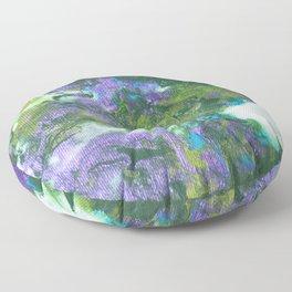 Abstract Wildflower Field Floor Pillow