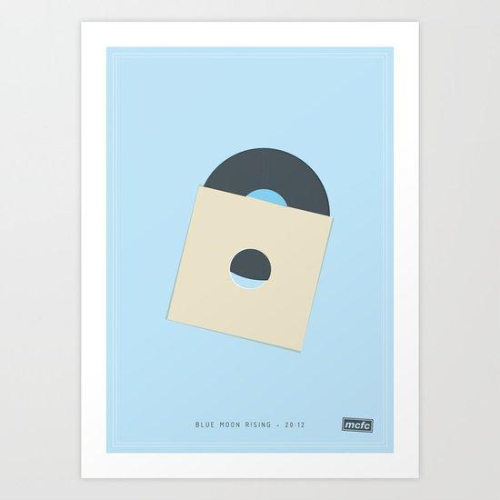 Blue Moon Rising - 20:12 Art Print