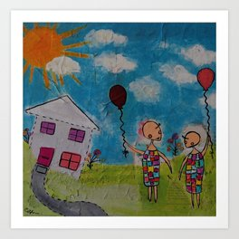 We're Glad it never Rained today Art Print
