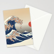 The Great Wave of Chihuahua Stationery Cards