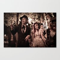 zombies Canvas Prints featuring Zombies! by Mickey Martin Photography