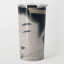 Ukiyoe depicting a Gion geisha Travel Mug