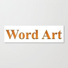 Word Art Canvas Print