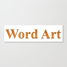 Word Art Canvas Print