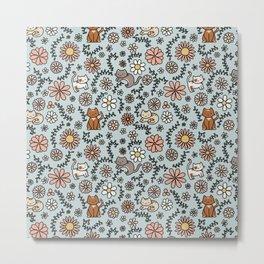 Flower Meower Metal Print