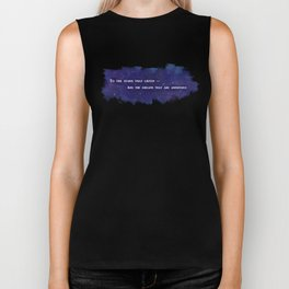 To the Stars that Listen (White) - A Court of Mist and Fury Biker Tank
