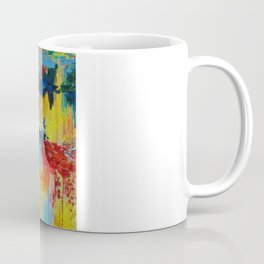 VANCOUVER RAIN - Stunning Rainbow Colorful Bold bright Rain Clouds Stormy Day Wow Abstract Painting Coffee Mug