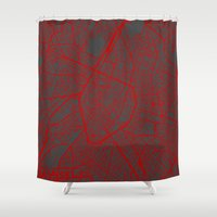 brussels Shower Curtains featuring Brussels by Map Map Maps