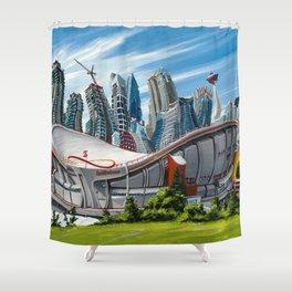 Downtown Calgary Skyline Shower Curtain