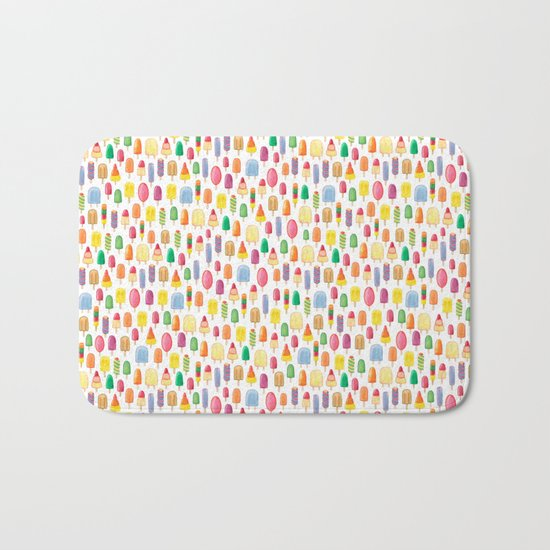 Ice Lolly, Popsicle, Ice Cream, Print.  Bath Mat