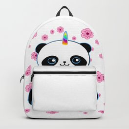 Pandacorn in a Field of Flowers Backpack