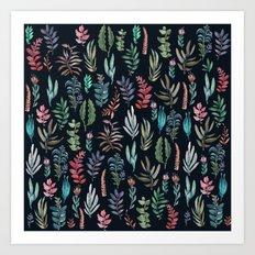 For Her, (nigth Garden!!) Art Print