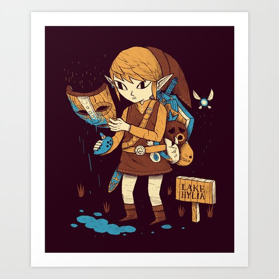 you got the loki mask! Art Print