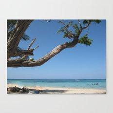 Jamaica - Glorious Sandy Beach Canvas Print