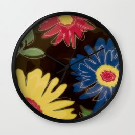 Pop Art Daisies Wall Clock