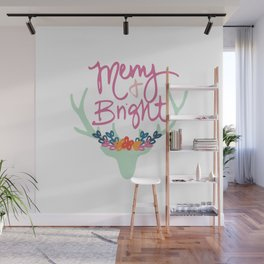 Merry & Bright PINK! Wall Mural