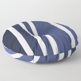 Striped Ombre in Blue Floor Pillow