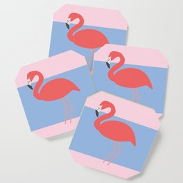 Flamingo -the pink lady Coaster
