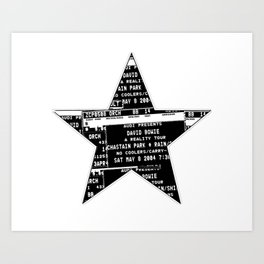 Bowie 2019-1 Art Print