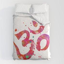 Colorful Om Symbol Comforters