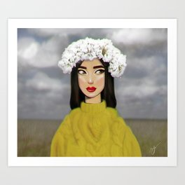 in field Art Print