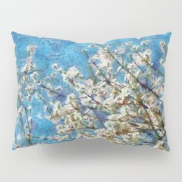 Blossom and Blue Sky In Monet Style Pillow Sham