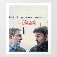 fargo Art Prints featuring Fargo tv serie by Magdalena Almero