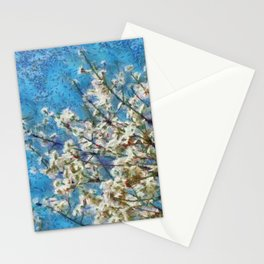 Blossom and Blue Sky In Monet Style Stationery Cards