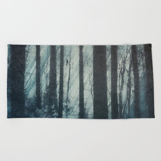 Glass Light Forest Beach Towel