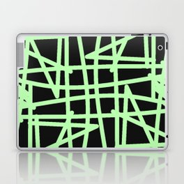 Black and neon green modern abstract pattern Laptop & iPad Skin