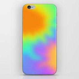 Bright Rainbow Wiggly Gradient iPhone Skin