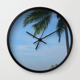 Palm Trees on the Cliff Varkala Wall Clock