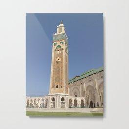 Hassan II mosque minaret - Casablanca Metal Print